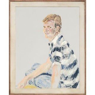 Paul Sorel Portrait of a Young Man in Striped Shirt 1964 For Sale