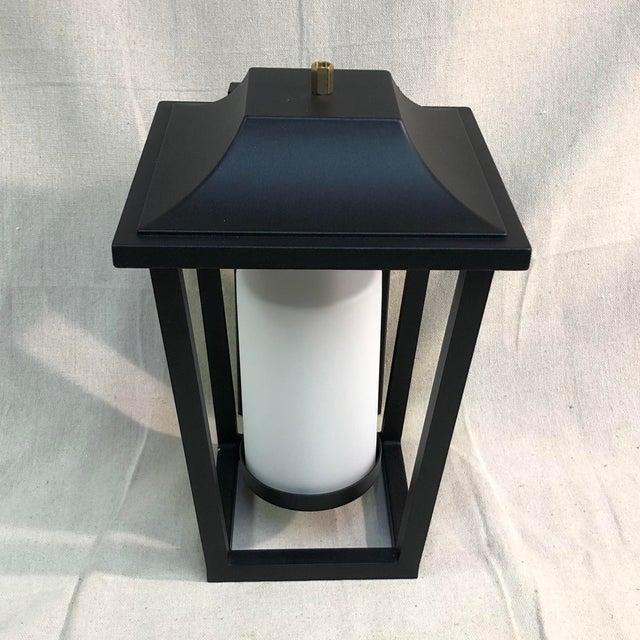 Hinkley Lighting Sullivan Outdoor Black Lantern Wall Sconce For Sale - Image 4 of 13