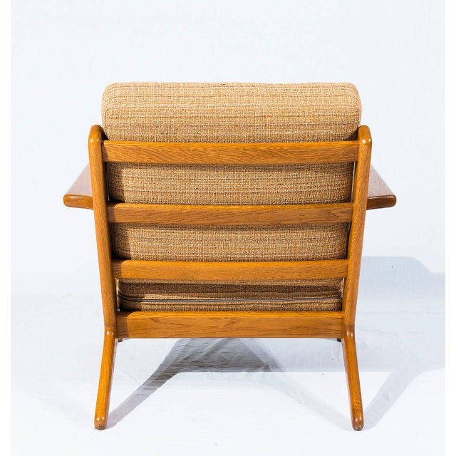 Pair of Hans Wegner GE-290 Lounge Chairs For Sale In Los Angeles - Image 6 of 10