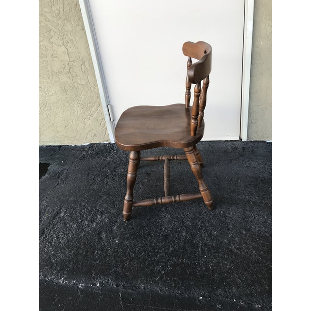 Wood 1950s Traditional Bistro Western Yugoslavia Windsor Chair For Sale - Image 7 of 13