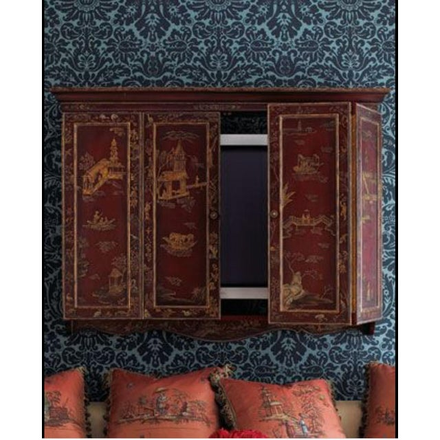 Maitland - Smith Maitland Smith Chinoiserie Wall Cabinet For Sale - Image 4 of 9