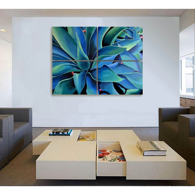 Silver Blue Agave Painting - Image 7 of 8
