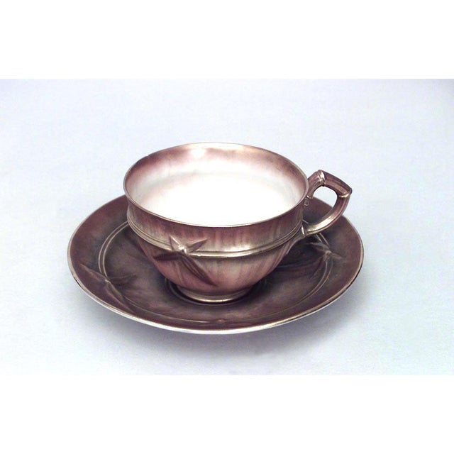 Mid 19th Century English Victorian Beige Porcelain and Gilt 13 Piece Tea Set For Sale - Image 5 of 8
