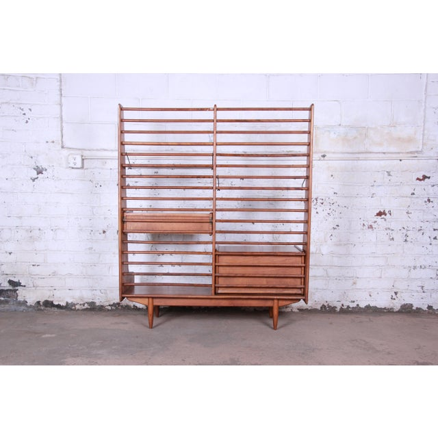 Leslie Diamond for Conant Ball Norsemates Room Divider or Wall Unit, 1950s For Sale - Image 11 of 13