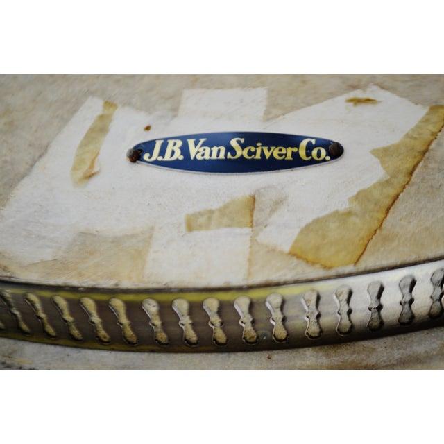 Hollywood Regency j.b. Van Sciver Co. Marble Top Table For Sale - Image 12 of 13