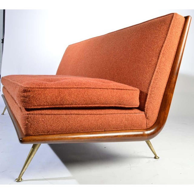 1950s t.h. Robsjohn-Gibbings Sofa Model 1727 for Widdicomb Circa 1955 For Sale - Image 5 of 12