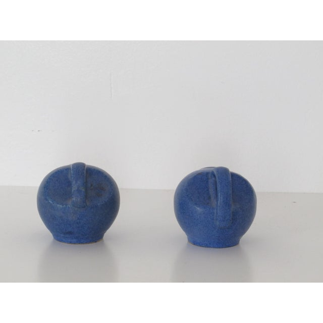 Blue Pottery Salt & Pepper Shakers - Pair - Image 6 of 7