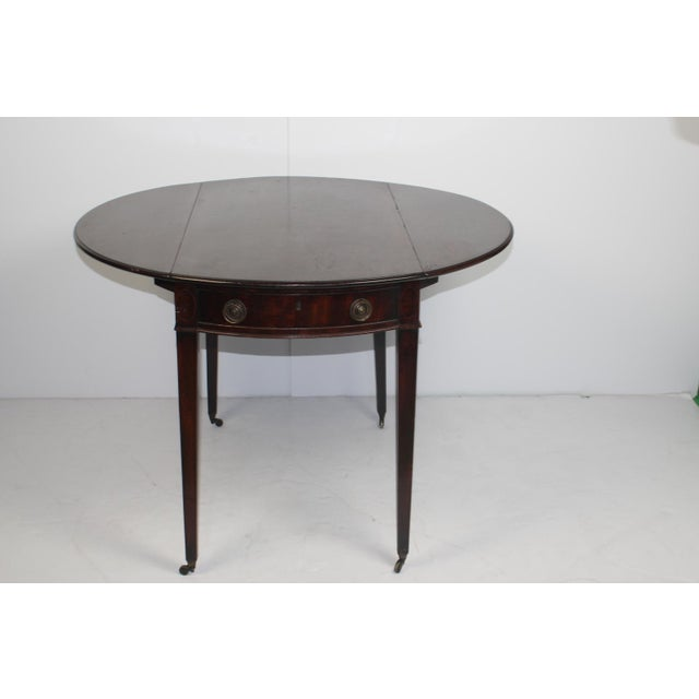 19th Century English Mahogany Pembroke Table - Image 3 of 5