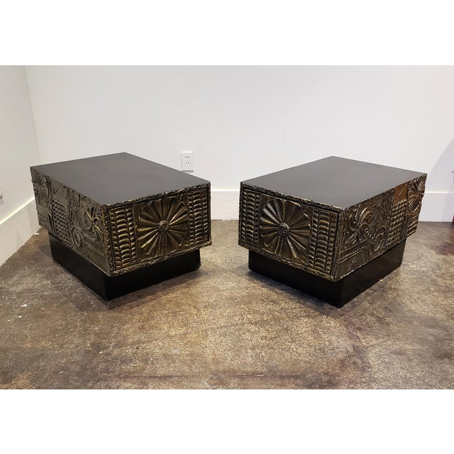 Adrian Pearsall Brutalist Side or Coffee Tables a Pair For Sale - Image 9 of 11