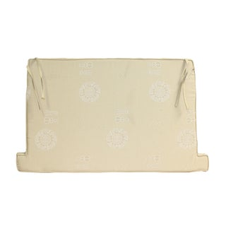 Chinese Oriental Light Cream Beige Fok Fabric Rectangular Seat Cushion Pad For Sale