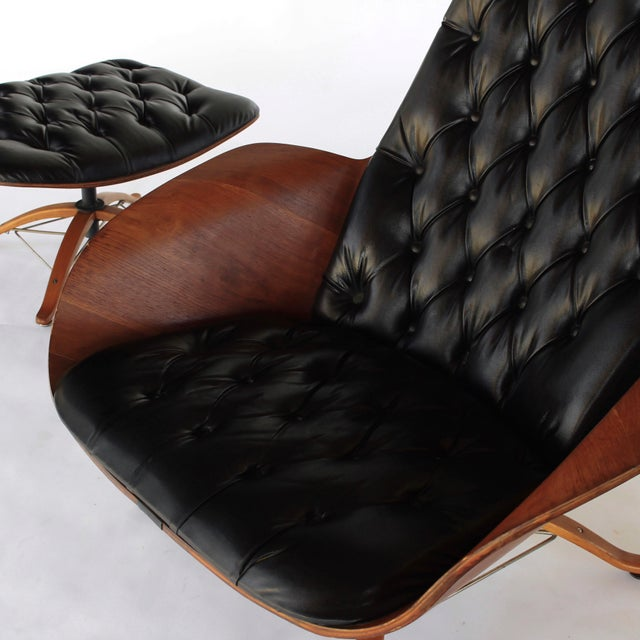 Plastic Mid Century Modern George Mulhauser for Plycraft Early Mr Chair Lounge Chair & Ottoman For Sale - Image 7 of 11