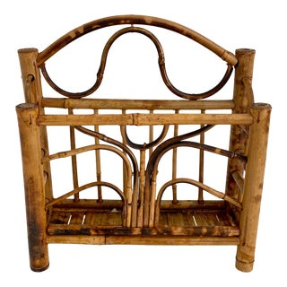 English Tortoiseshell Bamboo Letter Stand For Sale