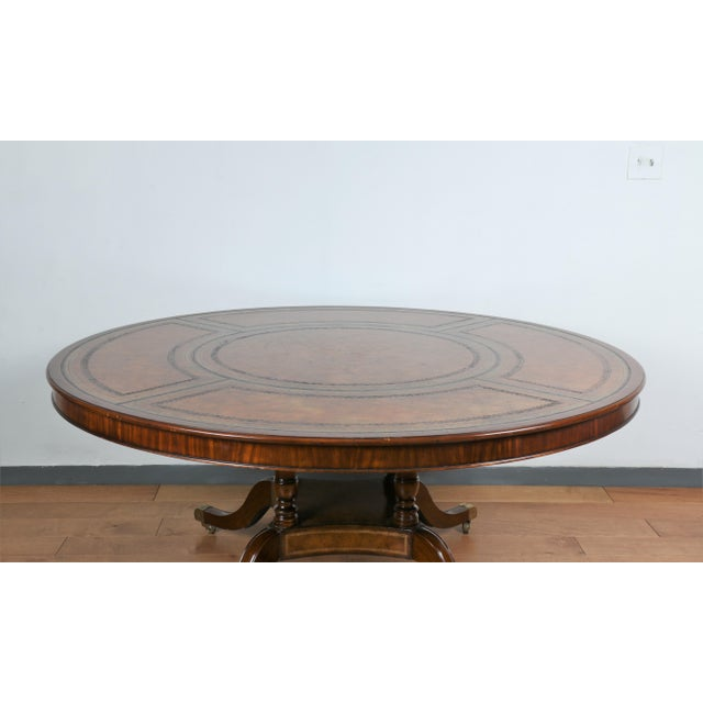 Large Maitland Smith Round Dining Table For Sale In Los Angeles - Image 6 of 13