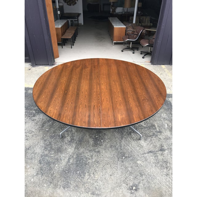 """Monumental 78""""d Eames for Herman Miller rosewood conference table. This table is huge! Top is two pieces and comes apart..."""
