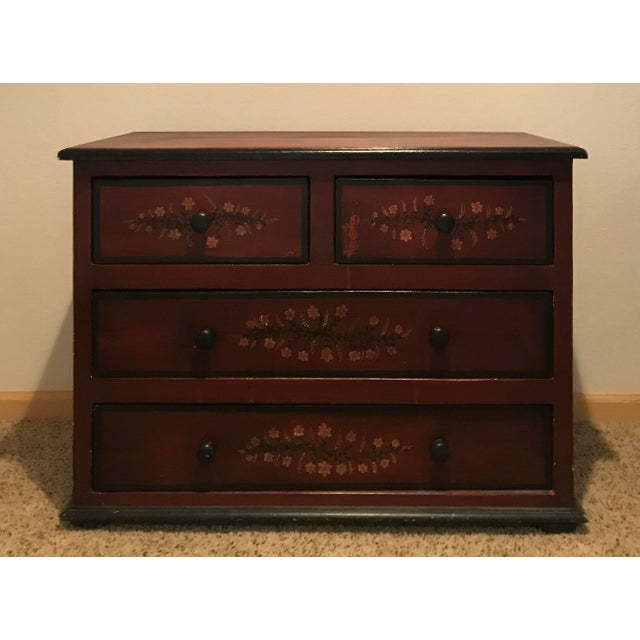 20th Century Black Forest Hand Painted 4-Drawer Dresser For Sale - Image 4 of 7