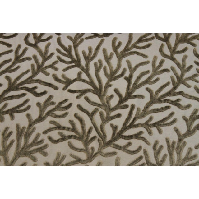 Brunschwig and Fils Reef Figured Velvet Fabric-3yds For Sale - Image 10 of 10