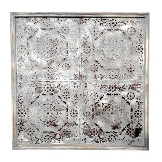 Antique Goa Tin Ceiling Panel For Sale