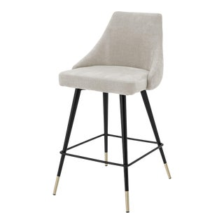Beige Upholstered Counter Stool | Eichholtz Cedro For Sale