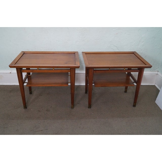 Mid-Century Walnut Side Tables - A Pair - Image 4 of 9