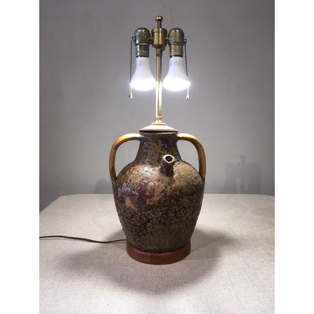 Mid 20th Century Mid-Century Modern Ceramic Jug Lamp For Sale - Image 5 of 10