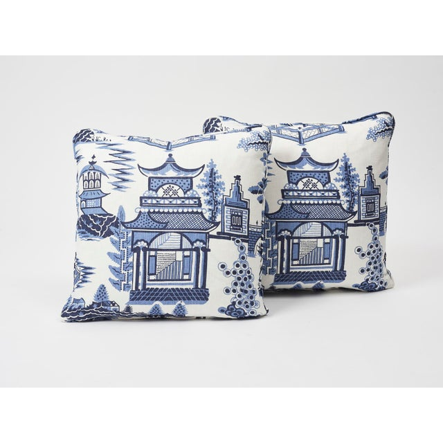 2010s Schumacher Double-Sided Pillow in Nanjing Print For Sale - Image 5 of 8