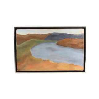 1969 Mid-Century Oil on Canvas Landscape Painting For Sale