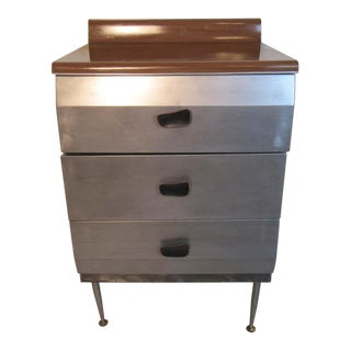 Vintage Metal Chest of Drawers For Sale