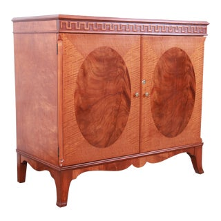 Romweber Inlaid Flame Mahogany Sideboard Bar Server, Circa 1940s For Sale