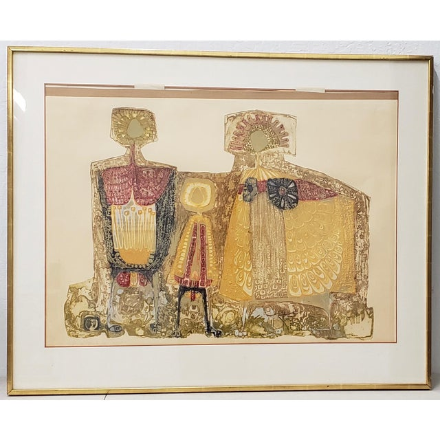 "Mid Century Modern ""Family Group"" Etching With Aquatint C.1950s For Sale - Image 12 of 12"