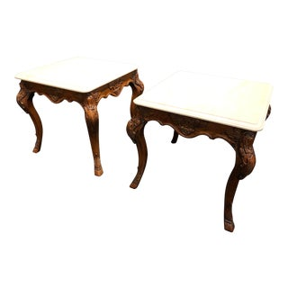 Traditional Ralph Lauren Nightstand Bedside Tables - a Pair For Sale