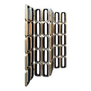 Postmodern Four Panel Geometric Room Divider For Sale