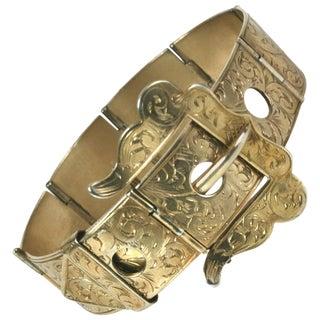 Victorian Etched Buckle Bracelet For Sale