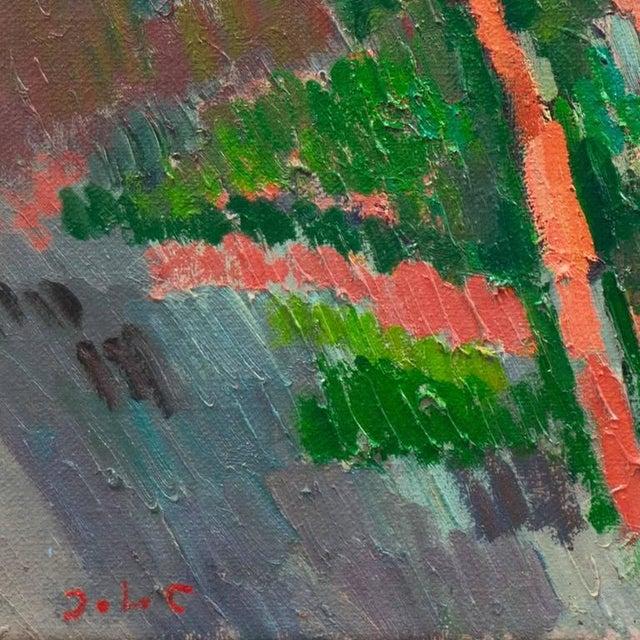 Impressionism Johannes Carstensen Landscape With Village For Sale - Image 3 of 11