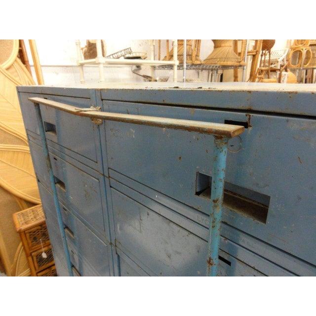 Vintage Blue Industrial Metal Cabinet - Image 6 of 11