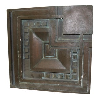 1990s Art Deco Wall Panel Design in the Manner of Frank Lloyd Wright For Sale