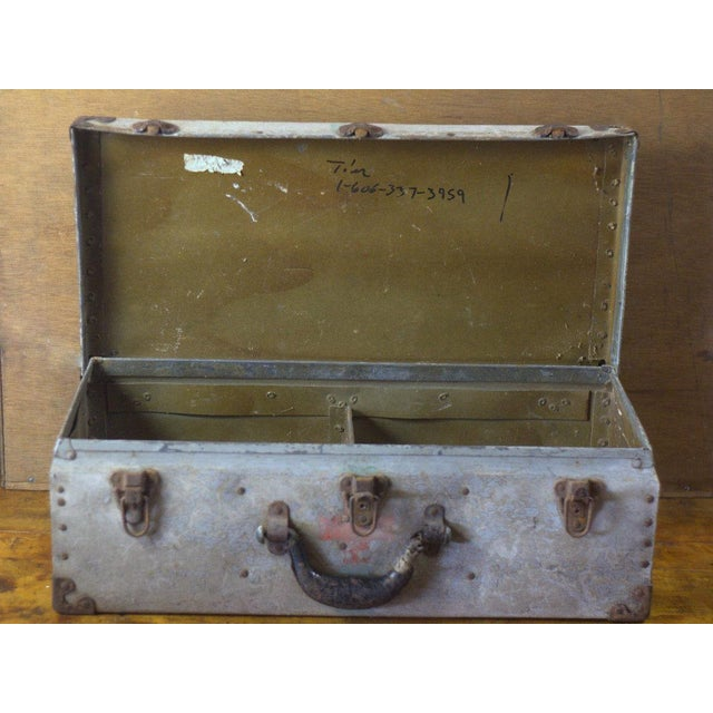 Industrial Vintage Military Hospital Trunk For Sale - Image 3 of 8