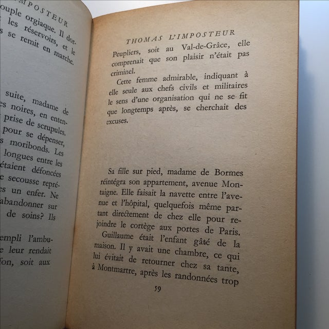 Thomas l'Imposteur Jean Cocteau 1923 Book - Image 7 of 7