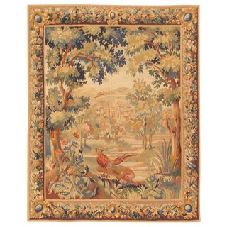"Pasargad Tapestry Silk & Wool Rug- 5' 5"" X 6' 6"" For Sale"