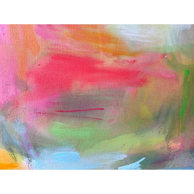 """""""Watering Hole"""" is an abstract expressionist oil painting on canvas by one of Chairish's most popular painters, Trixie..."""