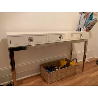 Jonathan Adler White Console Table Preview