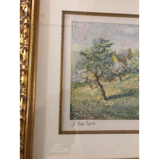 1900s Impressionist Print of Framed Trees in Bloom Aquatint Signed by H Claude Pissarro For Sale - Image 9 of 12