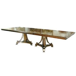 Regency Style Classic Savannah Designer Dining Table by Randy Esada Designs For Sale