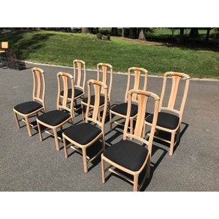 1970s Cerused Oak Dining Chairs - Set of 8 Preview