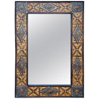 Mausolee Metal Inlaid Mirror For Sale