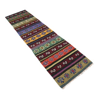 "Vintage Turkish Kilim Runner-2'8'x10'7"" For Sale"