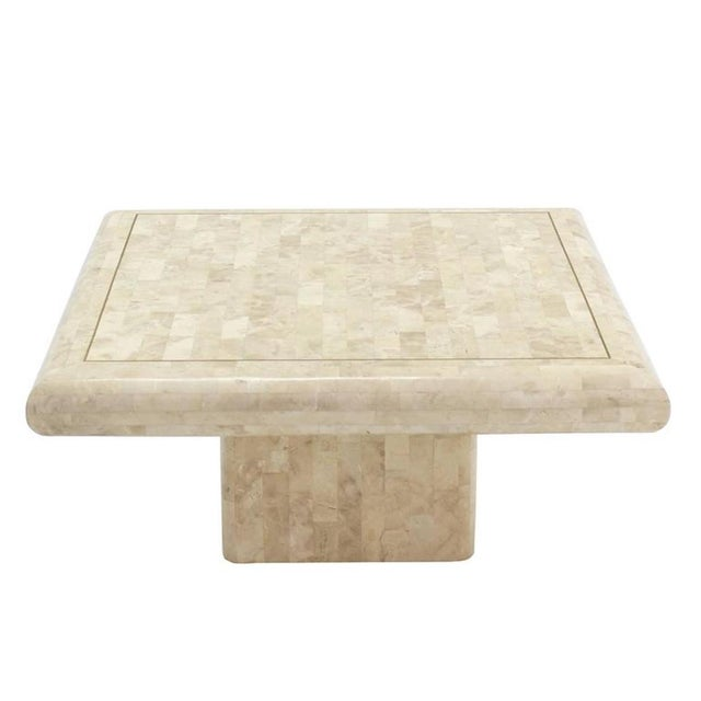 1970s 1970s Minimalist Tessellated Stone Coffee Table For Sale - Image 5 of 6