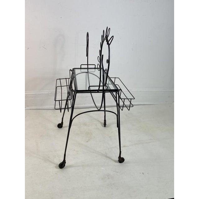 Black Frederick Weinberg Horse Bar Cart For Sale - Image 8 of 9