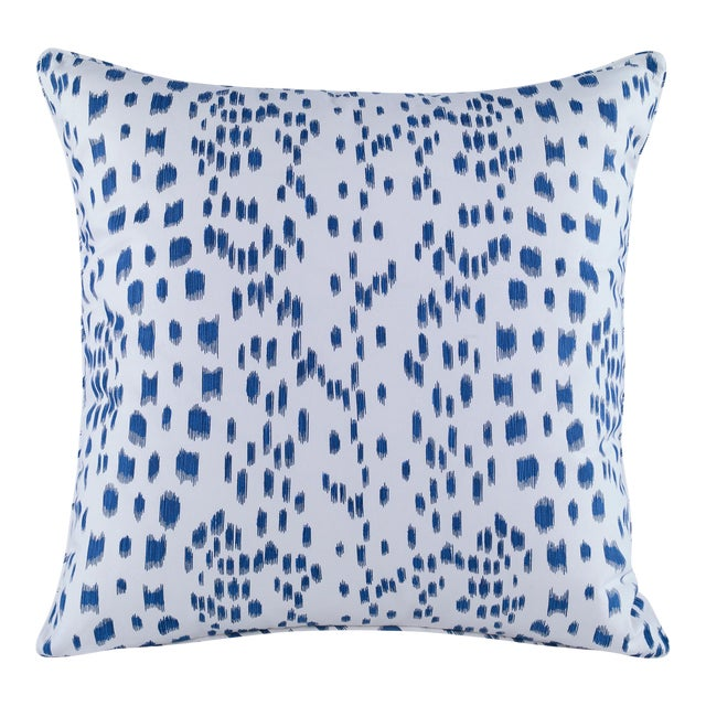 Curated Kravet Les Touches Pillow - Blue For Sale