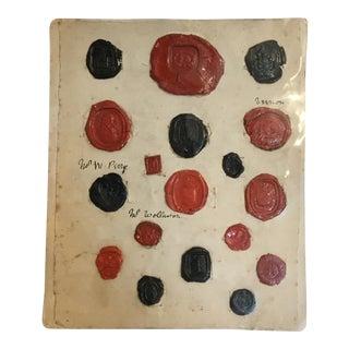 Antique English Red & Black Intaglios Wax Seals For Sale