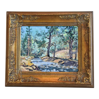 Roberta Owen Mt. Pinos California Framed Landscape Oil Painting For Sale